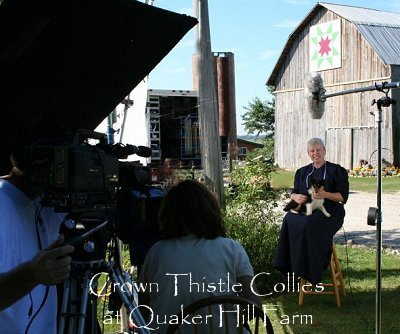 Animal Planet interview at Quaker Farm about Collie dogs